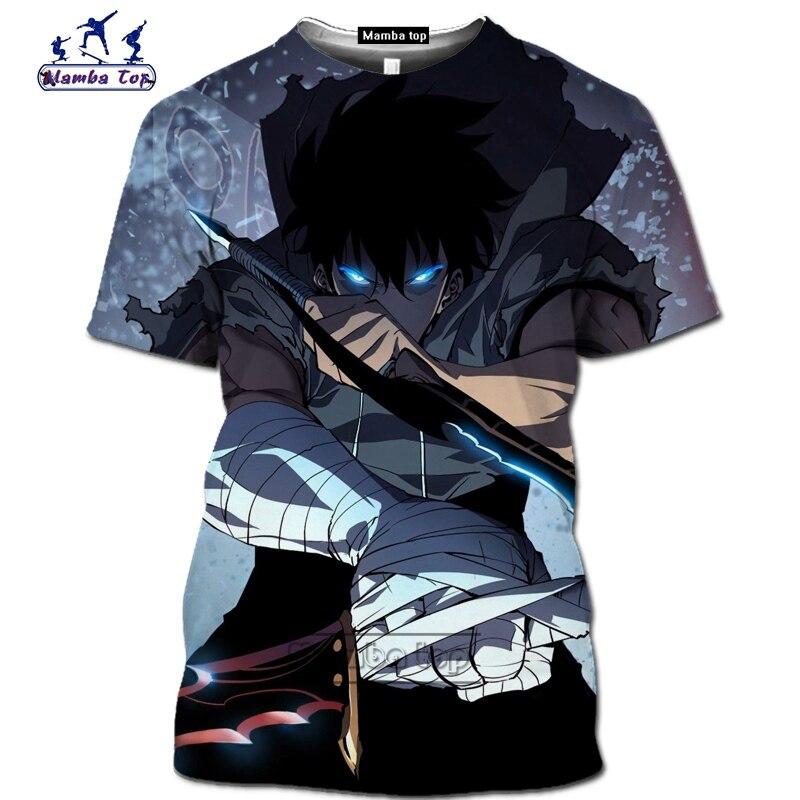 Mamba top Hot Comic Solo Leveling shirt homme fashion funny men T-Shirts 3D Anime Harajuku Jin-woo tee Short sleeve Streetwear (6)