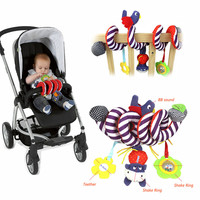 Zachte Baby Wieg Bed Wandelwagen Speelgoed Spiraal Baby Speelgoed Voor Pasgeborenen Autostoel Educatief Rammelaars Baby Handdoek baby Speelgoed 0 -12 maanden 2