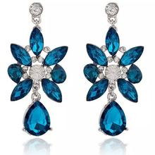 Earrings for Girls and Ladies Gift with Flower Shape Accessories Dazzling Personality Jewellery Pendant Erarring(China)