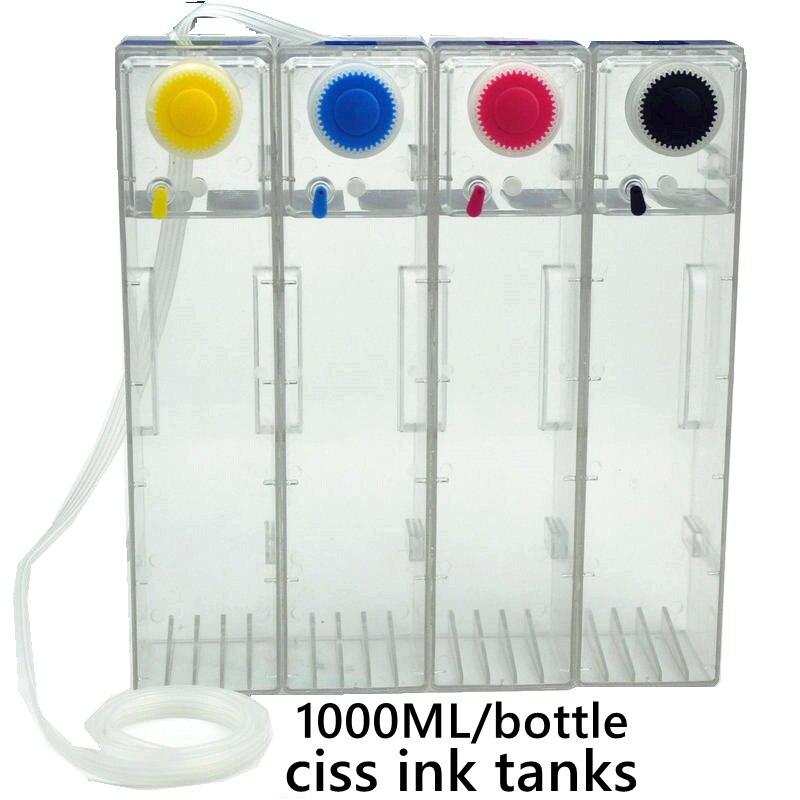 Compatible ink jet printer ink bottle 1000ml color cap bottle continuous ink supply system external bottle large capacity extern|Continuous Ink Supply System|   - title=