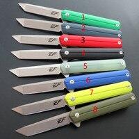 EF EF64 Folding Knife Tactical Outdoor Survival Camping Bushcraft Pocket Knife D2 blade G10 Handle ball bearing