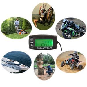 Image 5 - Motorcycle Meter Resettable Tacho Hour Meter Inductive Tachometer For Boats Motorcycle Marine ATV Snowmobile Generator Mower