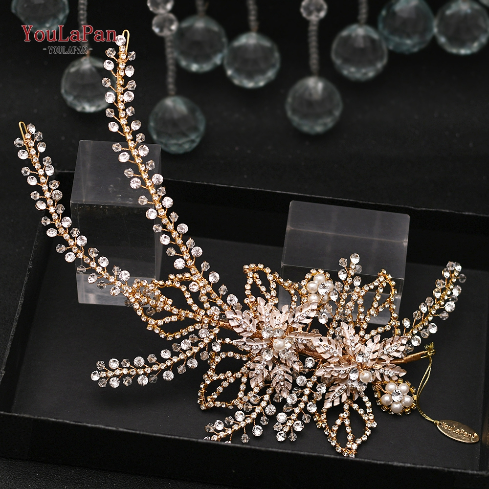 YouLaPan HP254 Designer Wedding Hair Accessories Fashion Wedding Headband Rhinestone Bridal Headpiece Wedding Tiara and Crown