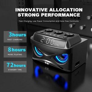 Image 4 - SOAIY S68 Three Speakers Subwoofer Bluetooth Speaker 25W 2000mAh LED Display Premium Portable Wireless Bluetooth Speaker