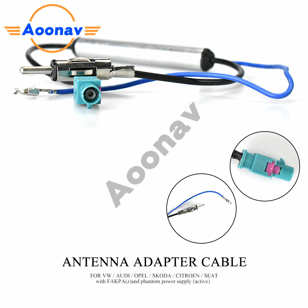 Aoonav 13-008 Car Stereo Radio Antenna Adaptor for BMW for KIA for OPEL for CITROEN - PEUGEOT - RENAULT(China)