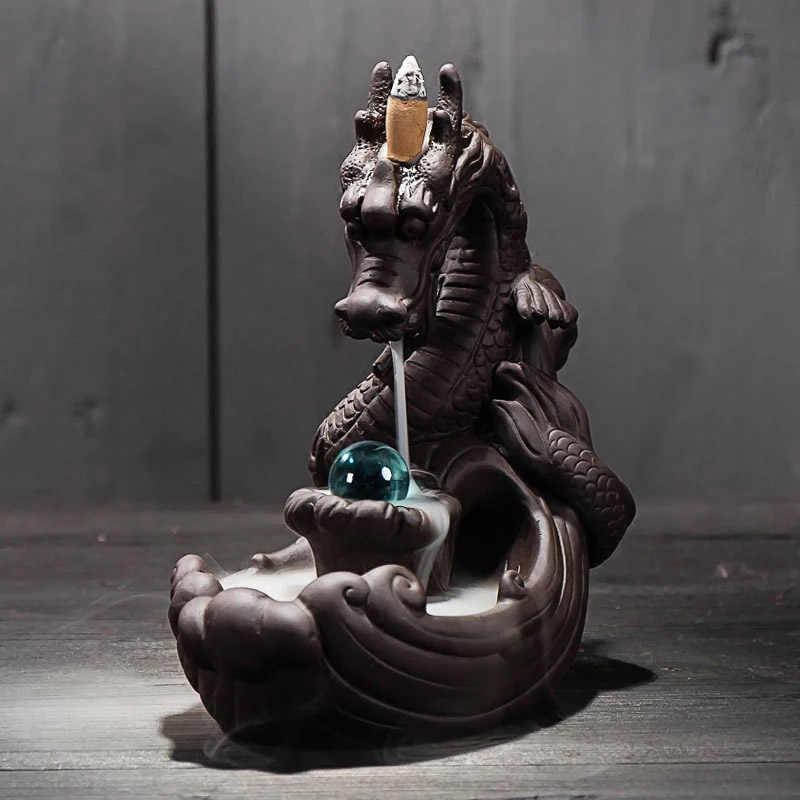 Die Wenig Mönch Räuchergefäß Kreative Wohnkultur Kleine Buddha Weihrauch Halter Rückfluss Weihrauch Brenner Verwenden In Hause Büro Teehaus