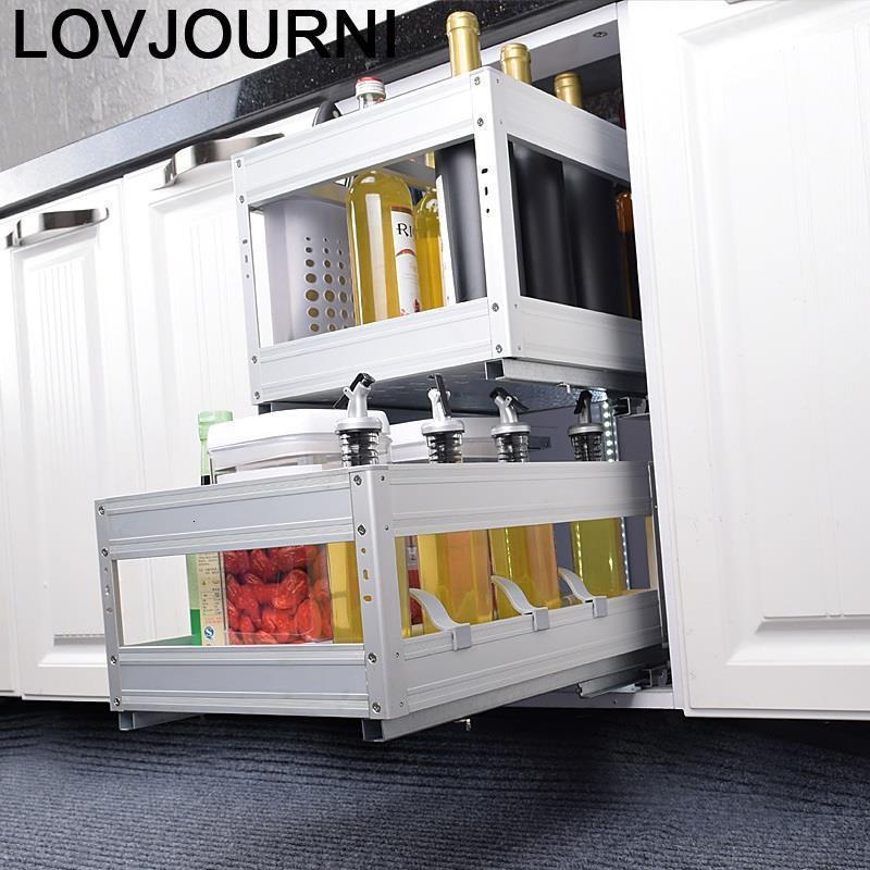Platos Organisadores Armario De Cosina Organizer Corredera Dish Cocina Cuisine Rack Kitchen Cabinet Cestas Para Organizar Basket