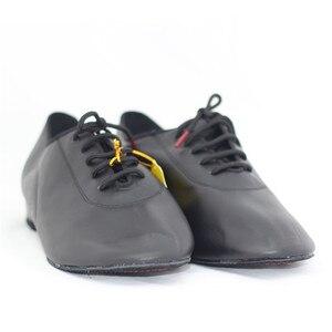 Image 4 - ชายมาตรฐานเต้นรำรองเท้าBD 309 บอลรูมเต้นรำรองเท้าหนังนุ่มDancesportแยกSoleโมเดิร์นสีดำรองเท้าNappedหนังSole