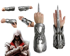 NEW Hidden Blade Sleeve Sword Weapon Brotherhood Gauntlet Replica Cosplay Weapons