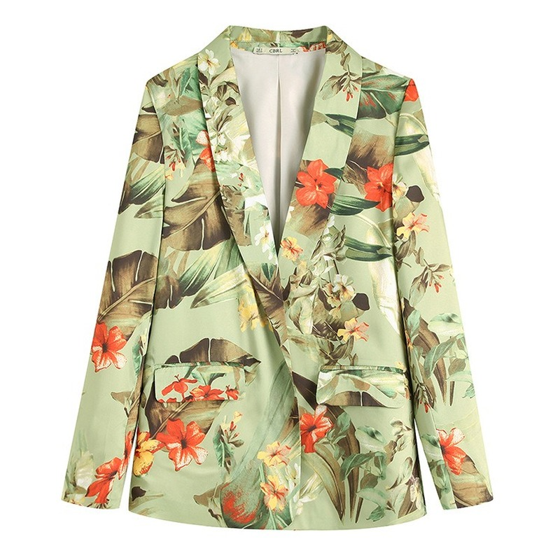 2019 autumn womens suit new female blazer style jacket women print