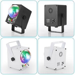 Image 3 - Dj 레이저 rgb 무대 조명 프로젝터 led 효과 램프 디스코 크리스마스 휴일 바 조명 파티 실내 램프 원격