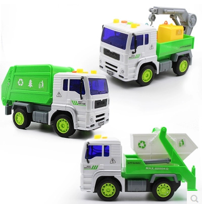 Storyteller Sound And Light Sanitation Truck Toy Literature And Art 320 Large Size Children Inertia Garbage Truck Toy Car Boy