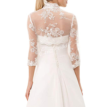 Summer Lace Bride Wedding Bolero Elegant Bridal Opera Evening Party Prom Costume Capes Ivory Jackets Women Wrap