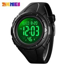 Digital Watch 1535 SKMEI Led-Display Black Outdoor Waterproof Men's Relogio Brand Sport