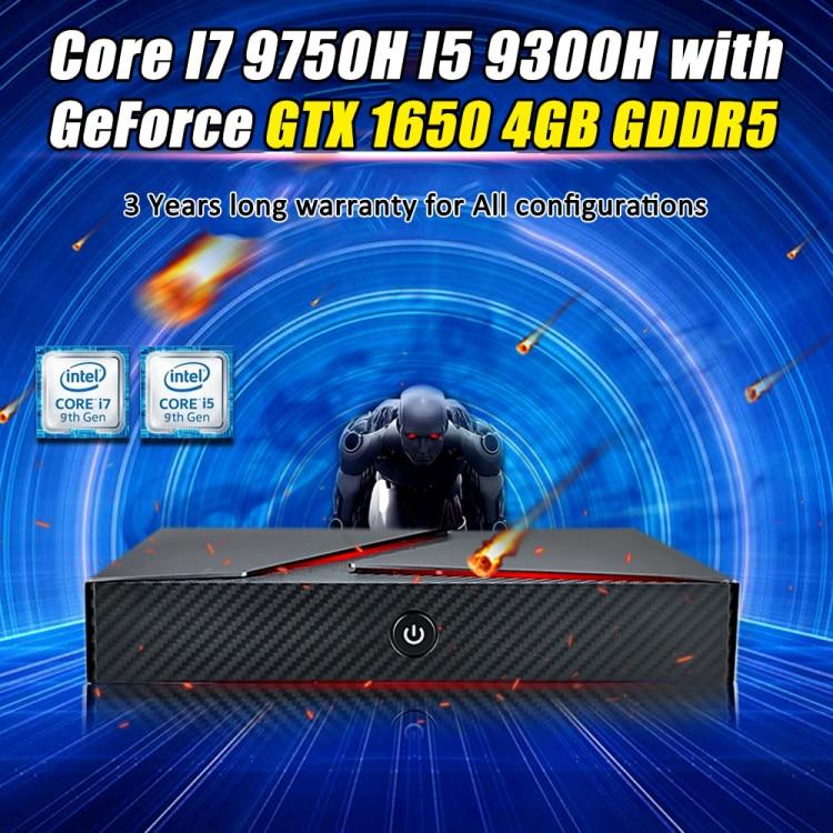 2020 Newest Gaming PC Intel Core I7-9750H I5 9300H Geforce GTX 1650 4GB GDDR5 64GB RAM NVME SSD TYPE C Mini ITX Desktop Computer