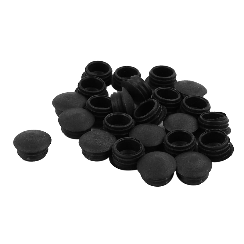 Hot Sale Blanking End Caps 13mm Dia Plastic Round Tubing Tube Inserts 24 Pcs
