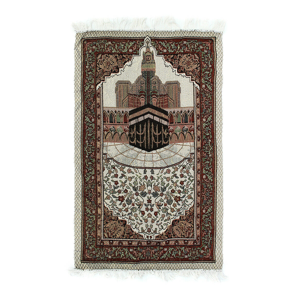 110x65cm Lightweight Islamic Muslim Decoration Tassel Tapestry Blanket Home Prayer Rug Portable Bedroom Embroidery Soft Gift
