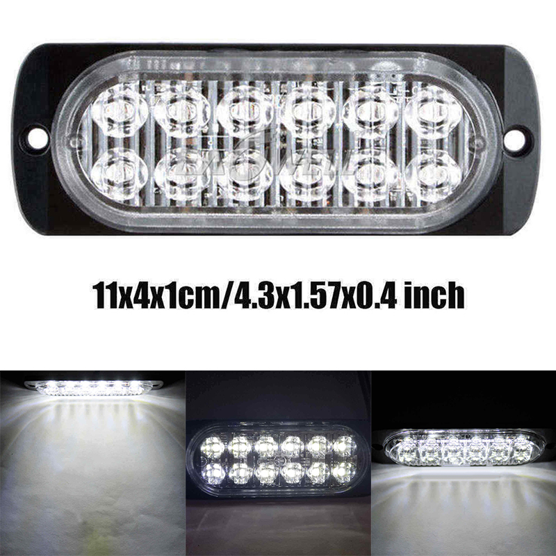 1pcs 12LED Light SMD 24V White Red Orange Truck Trailer Pickup Side Marker Indicator Lamps Caravan Tractor Kart