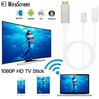 MiraScreen 2.4G/5G Android TV Stick Wireless HDMI Miracast Airplay Wifi Display Dongle Receiver HDTV Adapter for IOS Mac Windows