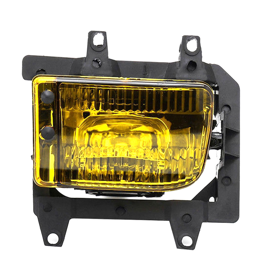 For BMW E30 3 Series 1985 1993 Left Right Side Crystal Yellow Lens Light Car Foglight