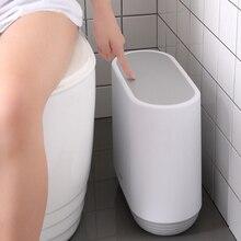 Narrow Recycle Bin 10L Trash Can Zero Waste Bins Kitchen Bathroom Bucket Induction Type Dustbin Trash Bin For Garbage Mini Bin bin feng