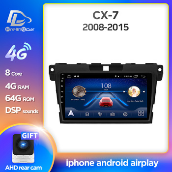 prelingcar For Mazda Cx-7 cx7 cx 7 2008-2015 Car Radio Multimedia Video stereo Player Navigation GPS Android 10.0 dashboard image