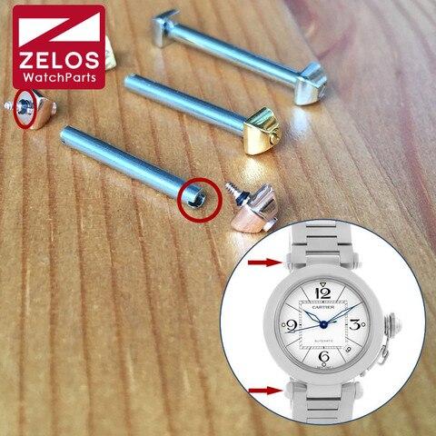 Parafuso de Aço Haste para Cartier Relógio de Quartzo Tubo Pasha Original Pino Pulseira Banda Parafuso Barra W31074m7