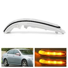 Rearview Mirror LED Turn Signal Light Flash Lamp for Acrua TSX For ACCORD CM5 CM6 CL7 CL9 2002-2008 LED Car Interior Lights car rearview mirror turn signal lights led lamp for toyota wish prius mark x crown auto exterior warning lights turning signal