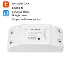 Tuya Wifi الذكية التبديل الموقت اللاسلكية عن بعد التبديل APP 10A/2200 واط العالمي أتمتة المنزل الذكي وحدة ل أليكسا جوجل المنزل