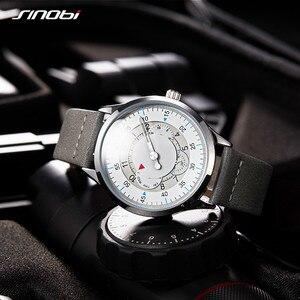 Image 4 - Sinobi חדש אופנה שעון Mens שעונים עם נירוסטה למעלה מותג יוקרה ספורט עמיד למים קוורץ שעון גברים Relogio Masculino