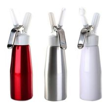 500ml Aluminum Alloy Whipped Cream Dispenser Home Kitchen Whip Cream Dispensers with Three Different Decorating Nozzles