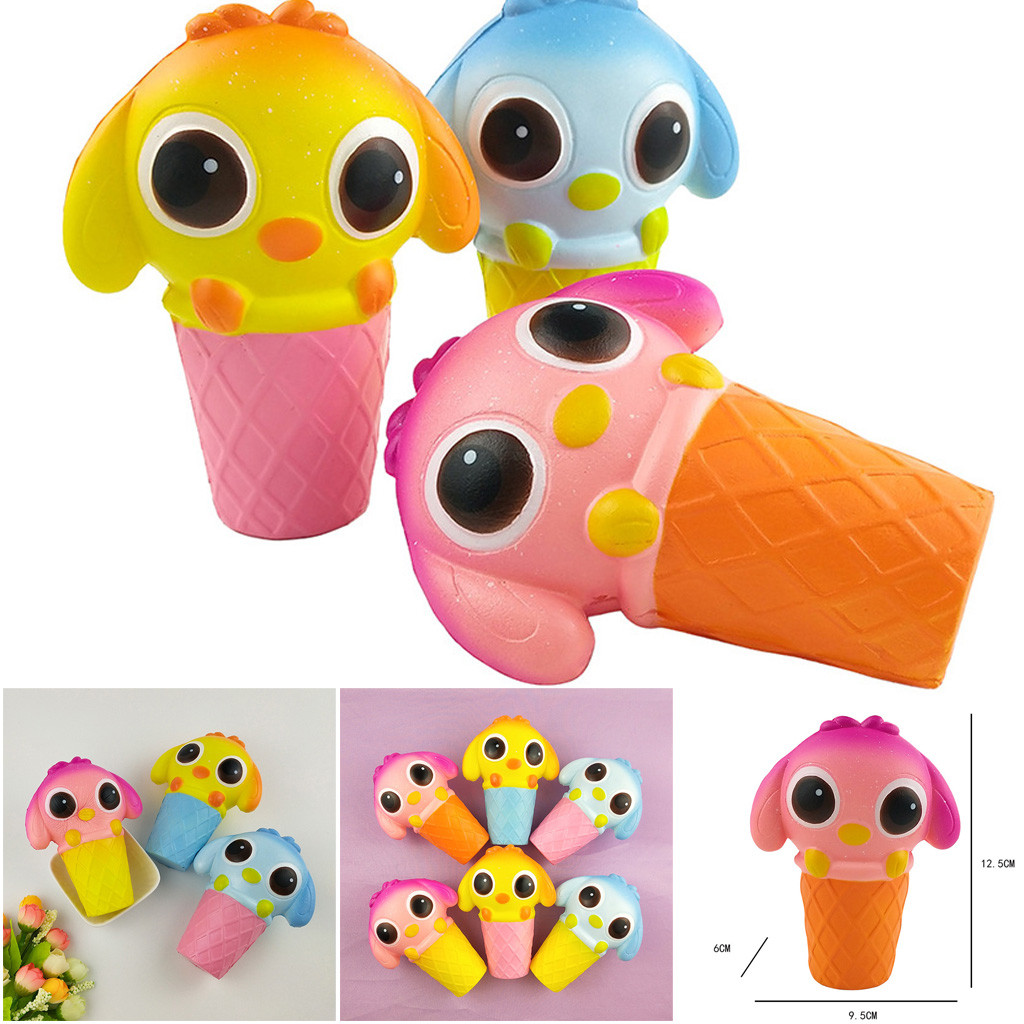 Rising Squeeze Stress Reliever Toys Squishies Adorable Cartoon Animal Slow Rising Cream Scented Decompression Toy L0116