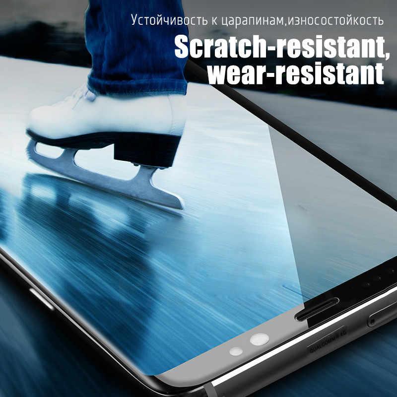 100D pełna zakrzywione szkło hartowane dla Samsung Galaxy S9 S8 Plus uwaga 9 8 ochraniacz ekranu na Samsung S7 S6 krawędzi S9 folia ochronna