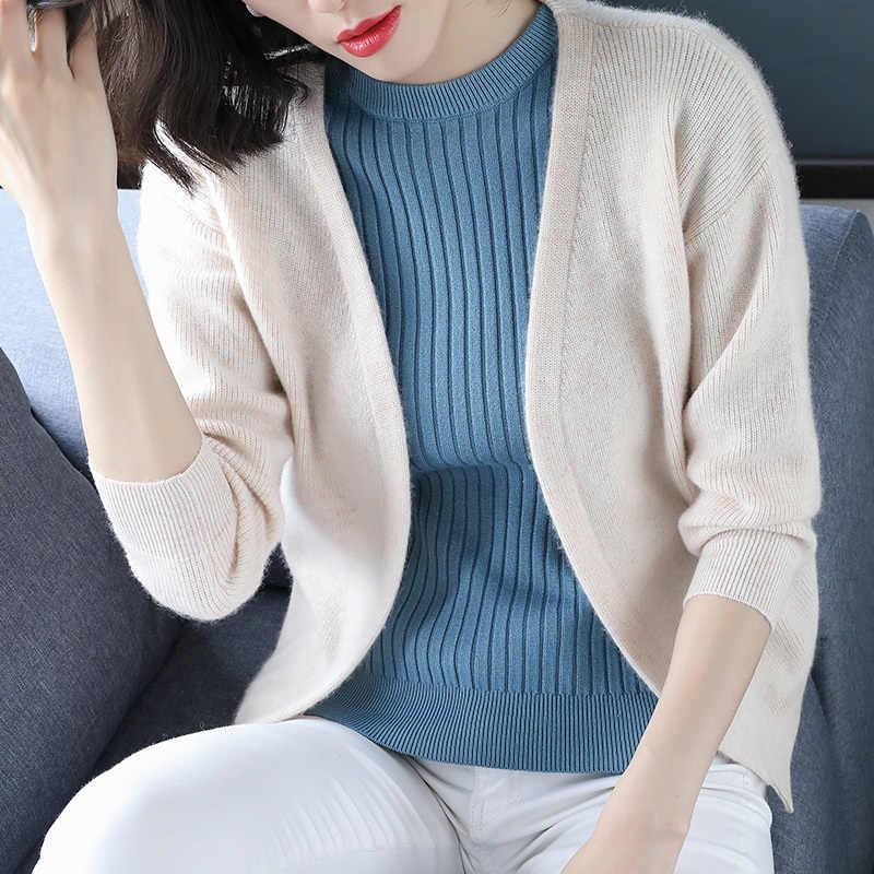 Cardigan de malha feminino outono 2020 camisola malhas cardigan preto xale cardigans feminino topos casaco 1845 kj2877