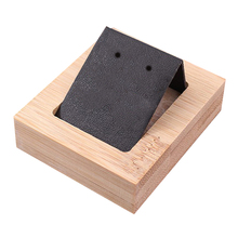 1 Pair Earring Card Holder with Tray for Jewelry Accessory Display Jewelry Desk Organizer Decoration