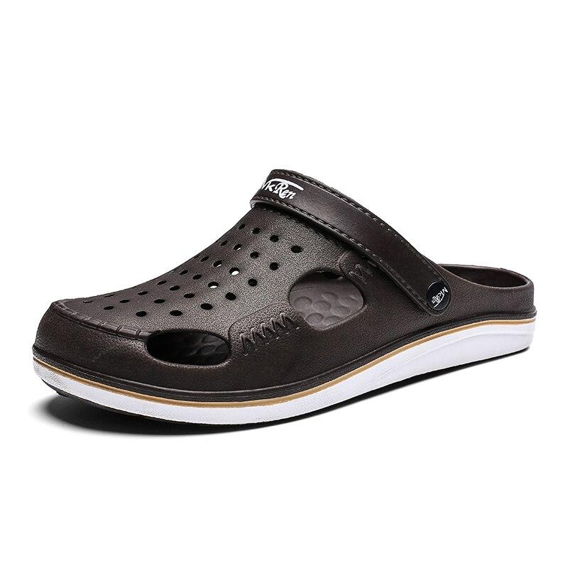 YOUQIJIA marque grande taille 39-45 Croc hommes noir jardin décontracté Aqua sabots chaud mâle bande sandales été diapositives plage natation chaussures