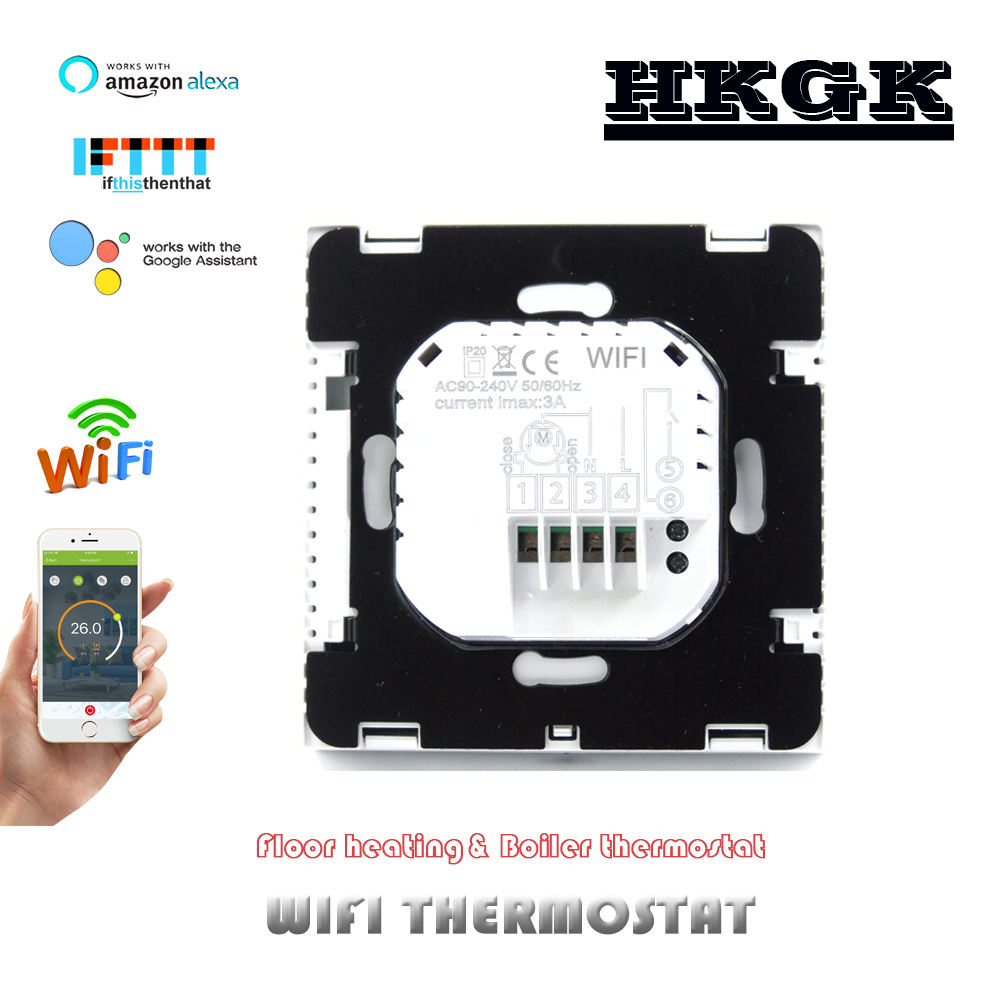 3A Water Heating And Gas Wall-hung Boiler Heating With WIFI Thermostat, Temperature 0.5 °C Precision Display