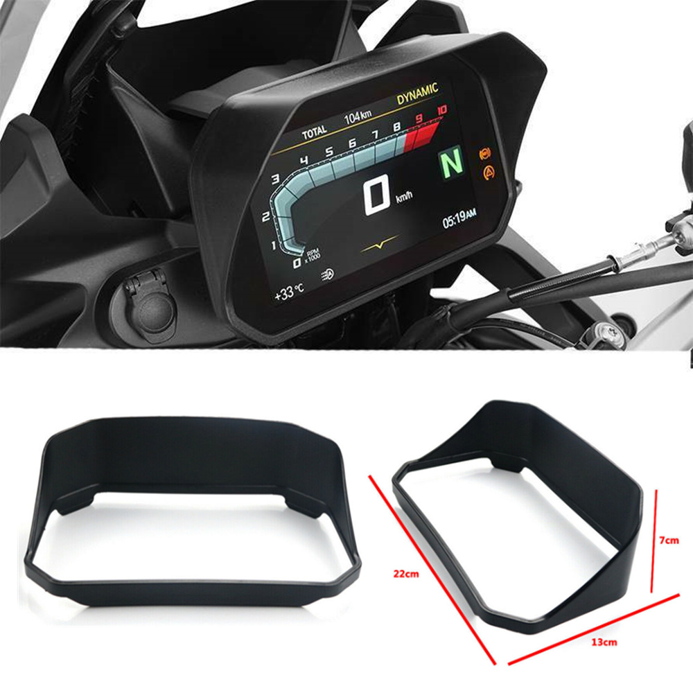 For <font><b>BMW</b></font> <font><b>R1200GS</b></font> LC/ADV 2018-2019 R1250GS Adventure Motorcycle Instrument Speedometer Hat Sun Visor Cover Guard Black image
