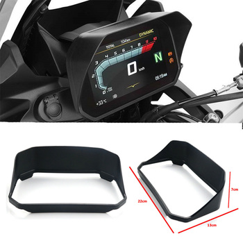 Para bmw r1200gs lc/adv 2018-2019 r1250gs aventura motocicleta instrumento velocímetro chapéu viseira de sol capa guarda preto