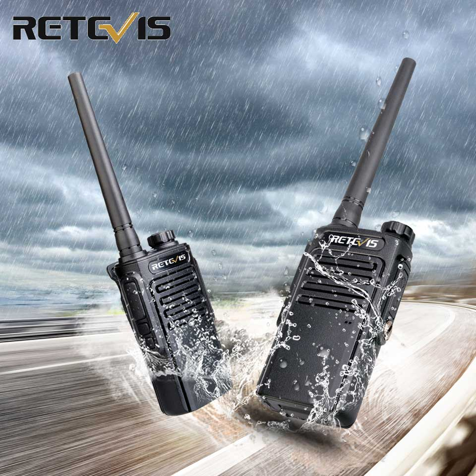 RETEVIS RT47/RT647 2 Pcs FRS/PMR Walkie Talkie Waterproof IP67 PMR Radio PMR446 License-free Portable Two-way Radio Transceiver