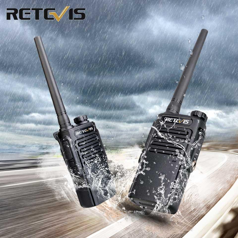 RETEVIS RT647 RT47PMR Radio Waterproof Walkie Talkie 2 Pcs IP67 PMR Radio PMR446 License-free Walkie-Talkies For Surf/skiing