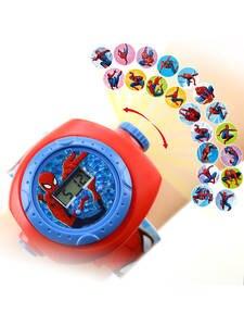 Child Watch Display-Clock Projection LED Spiderman Kids Digital Girls Cartoon-Pattern