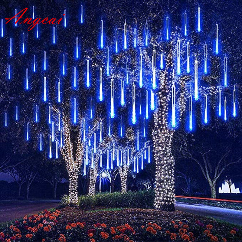 30cm 144 LED/ 50cm 240LED Light Meteor Shower Falling Rain Drop Snow Fall Xmas String Lights,Outdoor Tree ,8tubes/set Snow Fall