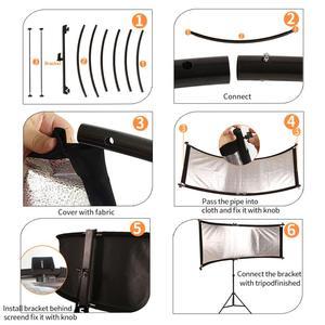 Image 5 - Gskaiwen u字型 4In1 ンスリフレクターディフューザースタジオカメラビデオ写真三脚とポータブルバッグ (シルバー/黒/wh/gd)
