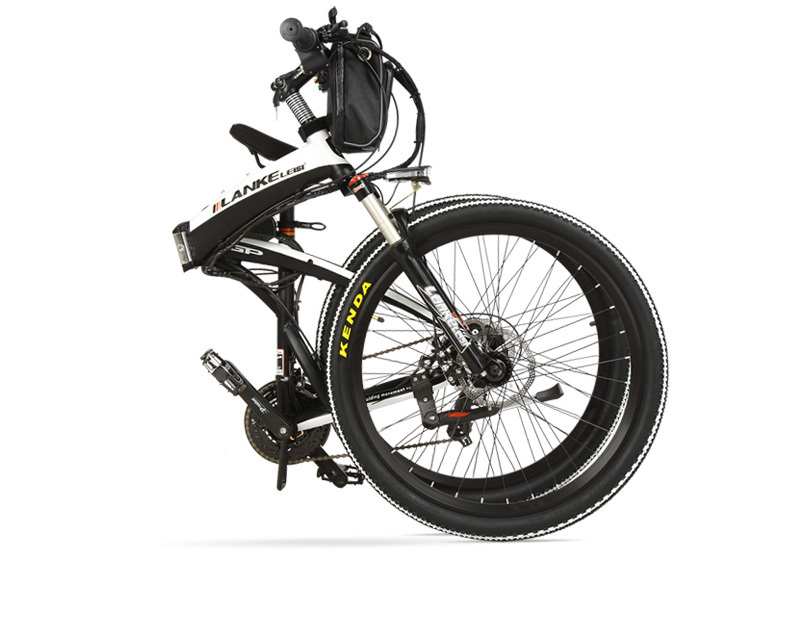 Lankeleisi 189.47 electric bicycle, folding bicycle, 26 inches, 36/48 V, 240 W, disk brake, fast folding, mountain 23