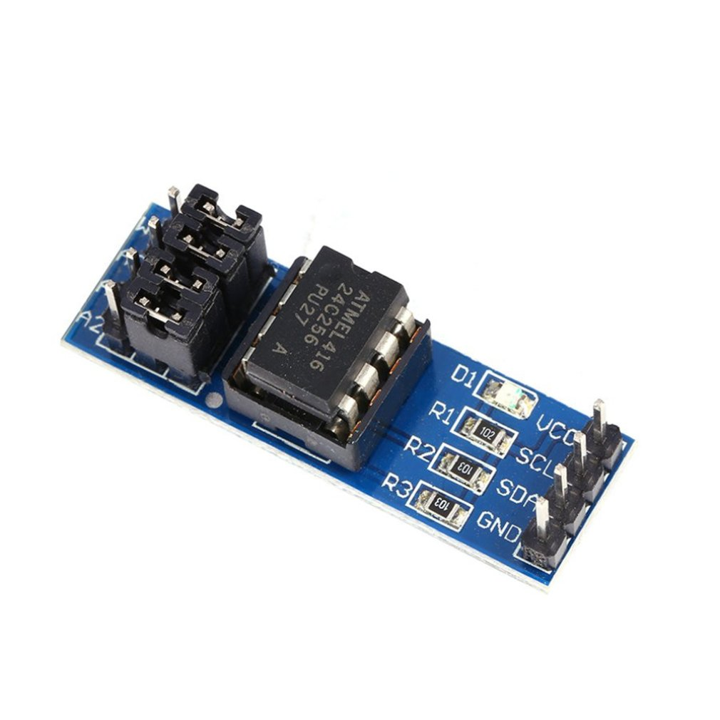 At24C128 I2C Interface Eeprom Storage Module Pin Header Power Supply Onboard Power Indicator Storage Module