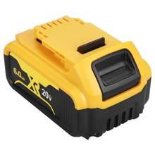 20 V 6.0Ah DCB200 remplacement Li-ion batterie pour DeWalt MAX XR outil électrique 20 v 6000mAh Batteries au lithium DCB200 184