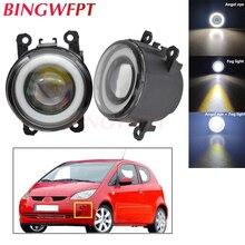 2pcs NEW Car styling Angel Eyes front bumper LED fog Lights with len For Mitsubishi Colt Hatchback 2004-2012