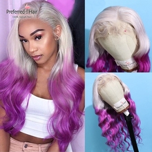 Preferred Brazilian Remy Lace Front Wig 13x4 Preplucked Ombre Human Hair Wig With Baby Hair Transparent Lace Wigs For Women