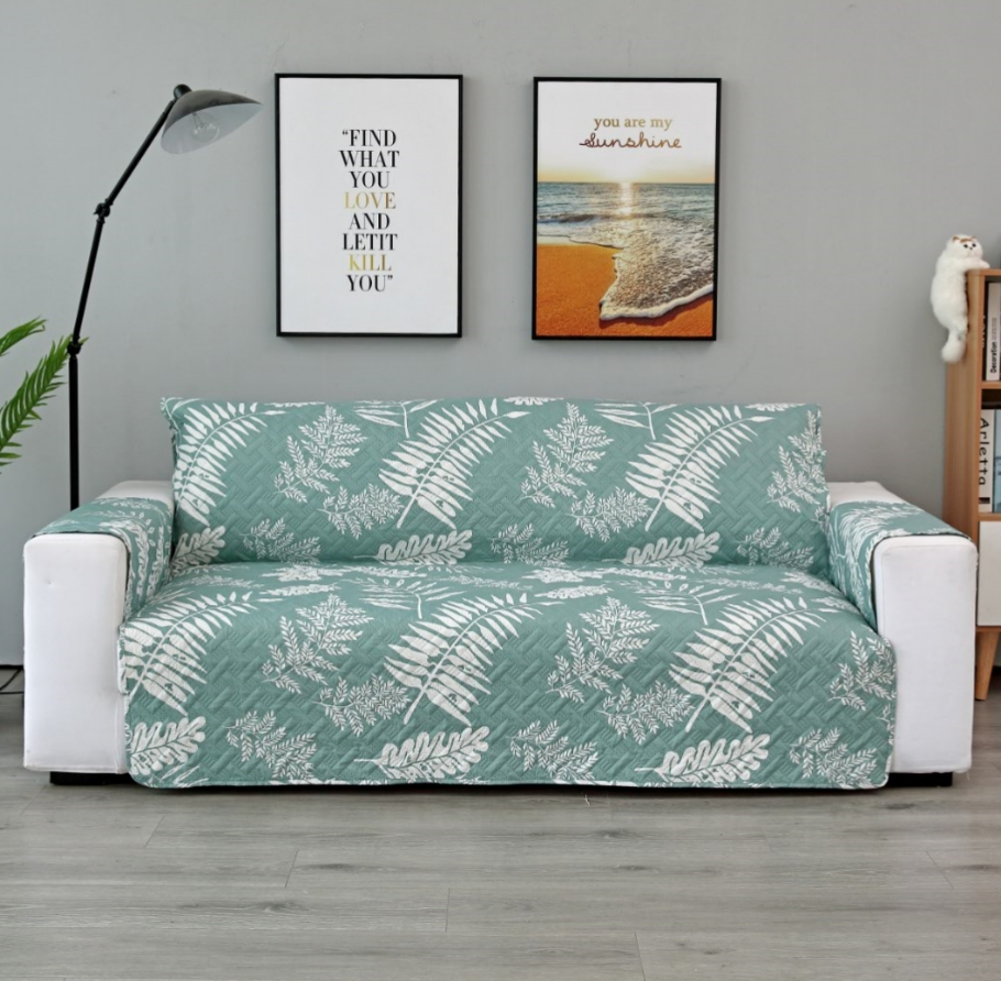 Leaf Printed Sofa Cover For living Room Waterproof Cover Sofa Anti Couch Cover Foldable 1 2